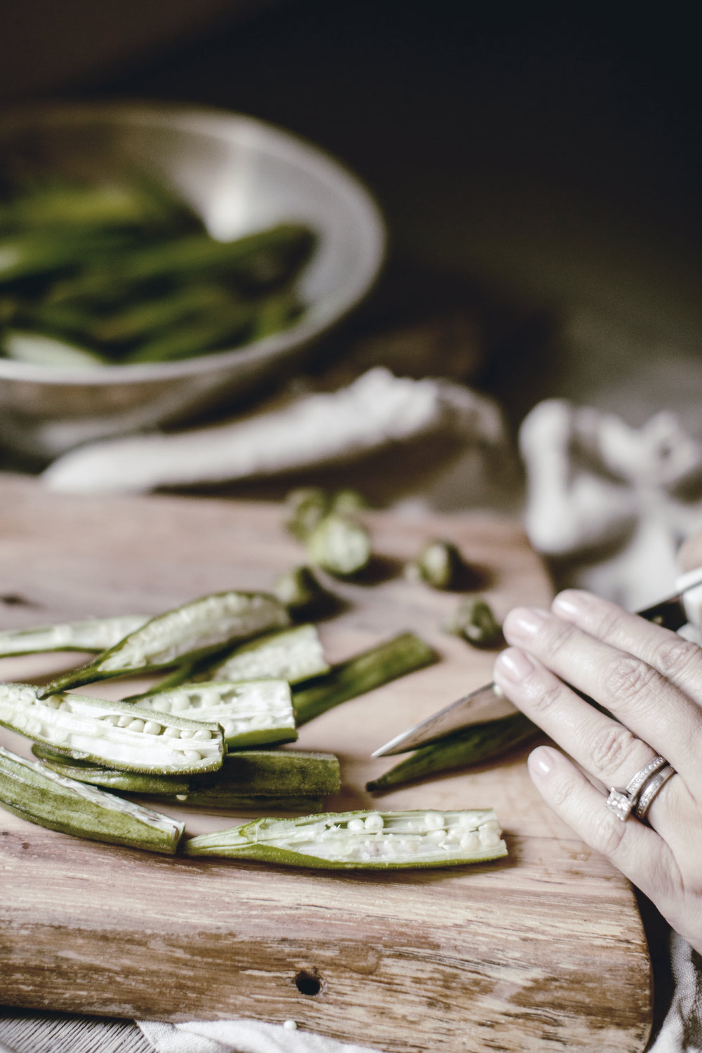 Roasted Okra side dish