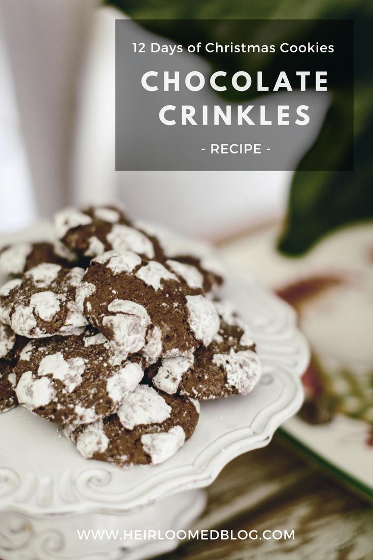 chocolate crinkles pinterest / heirloomed