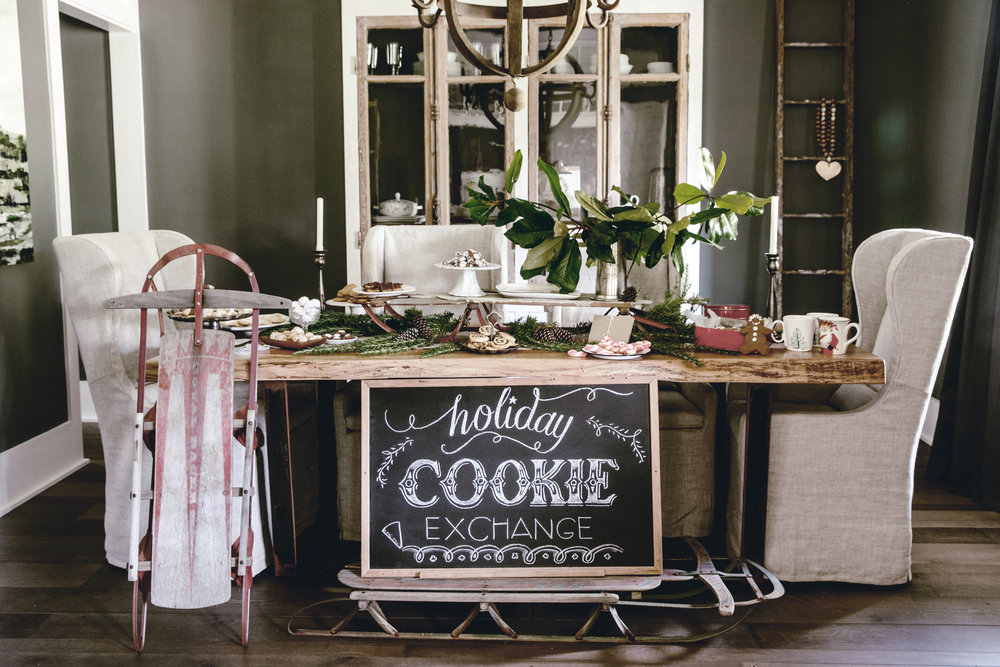 holiday cookie exchange / heirloomed