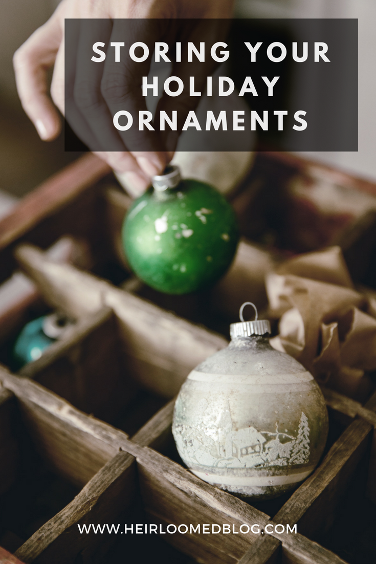 storing your holiday ornaments pinterest / heirloomed