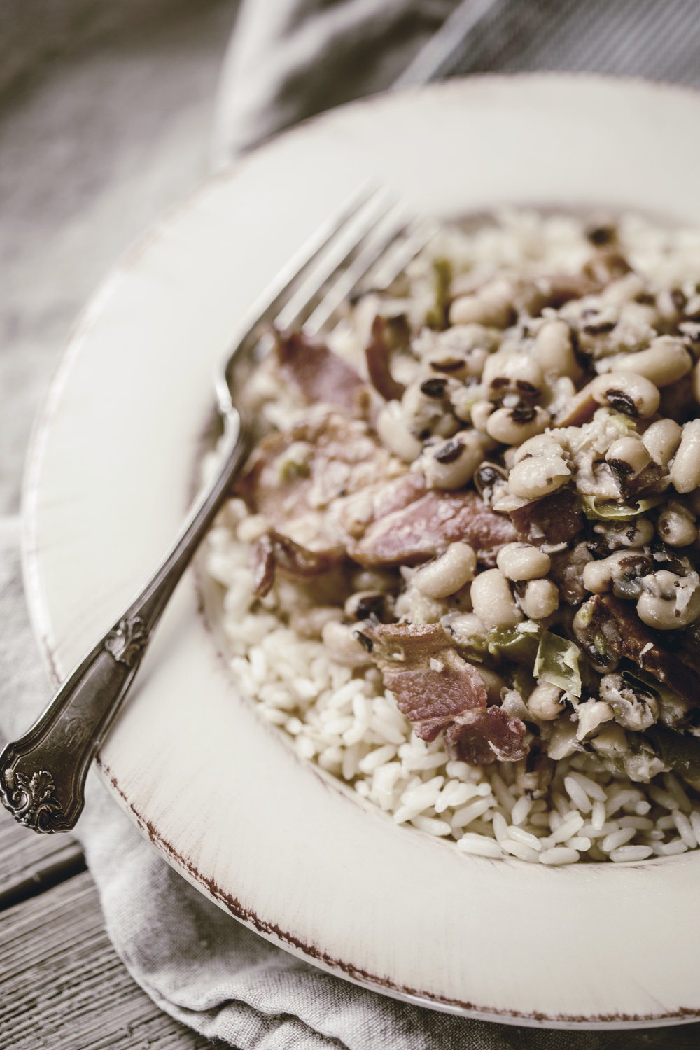 hoppin john recipe for New Years good luck / heirloomed