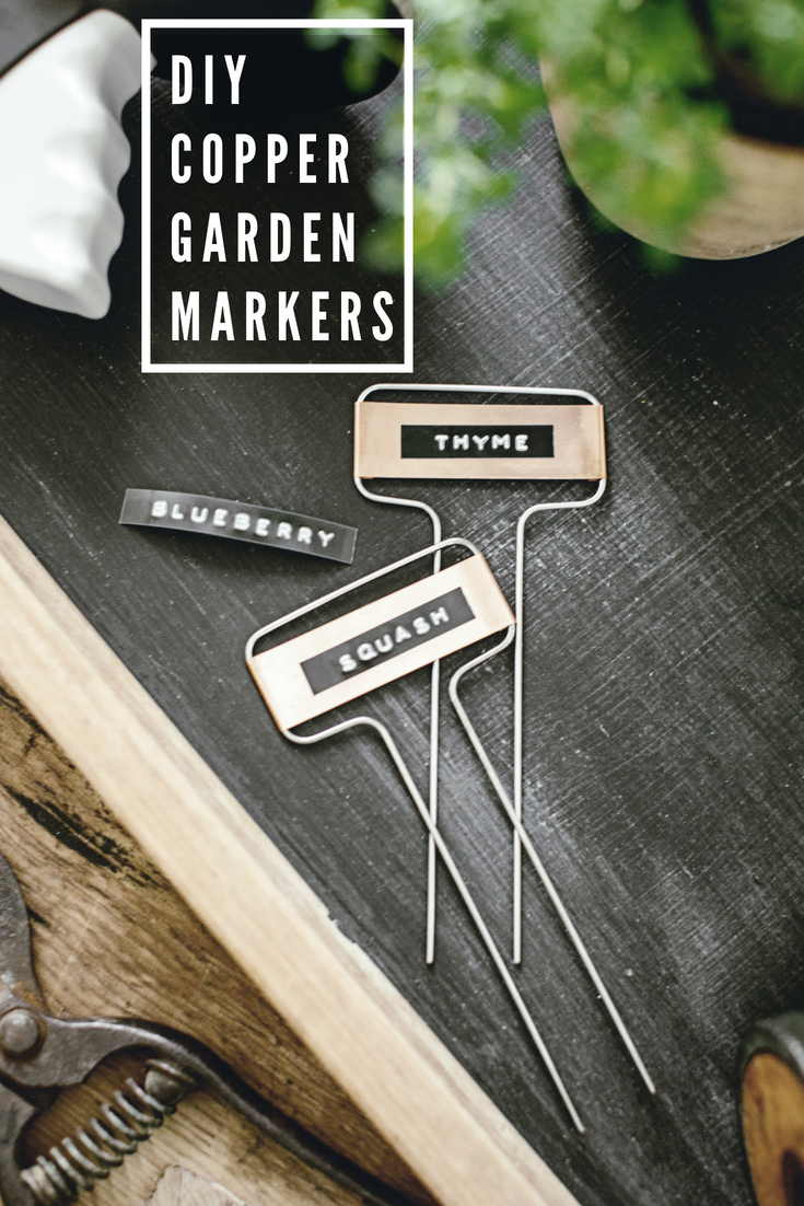 DIY Copper Garden Markers / heirloomed