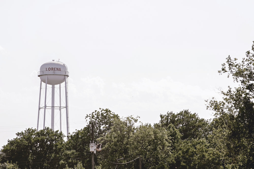 Lorena texas / water tower / small town travel / heirloomed