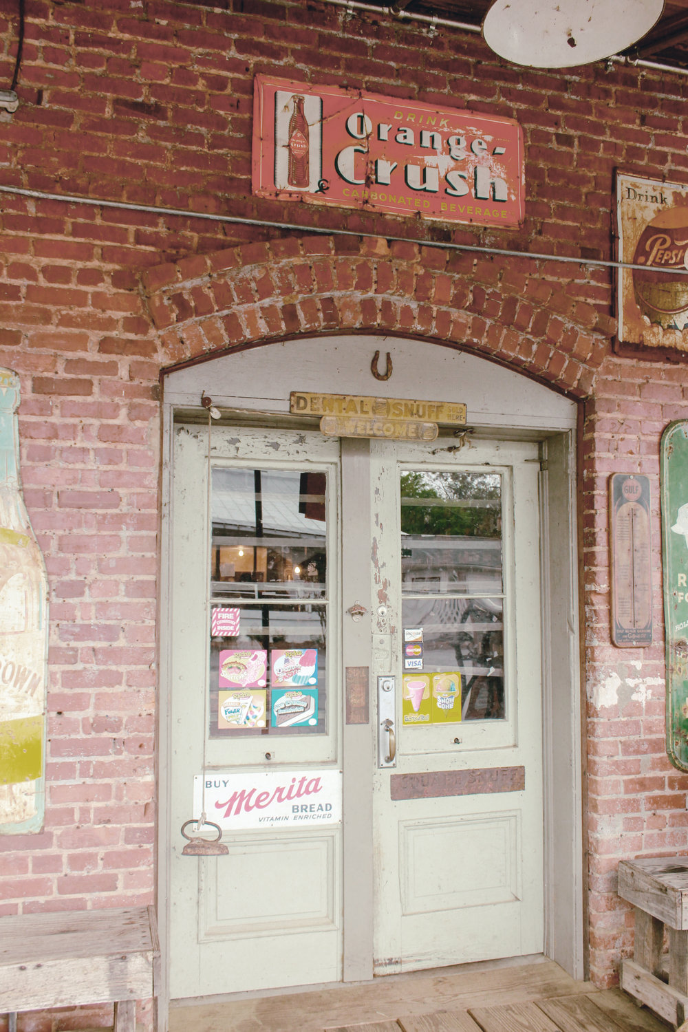 front door of general store / heirloomed
