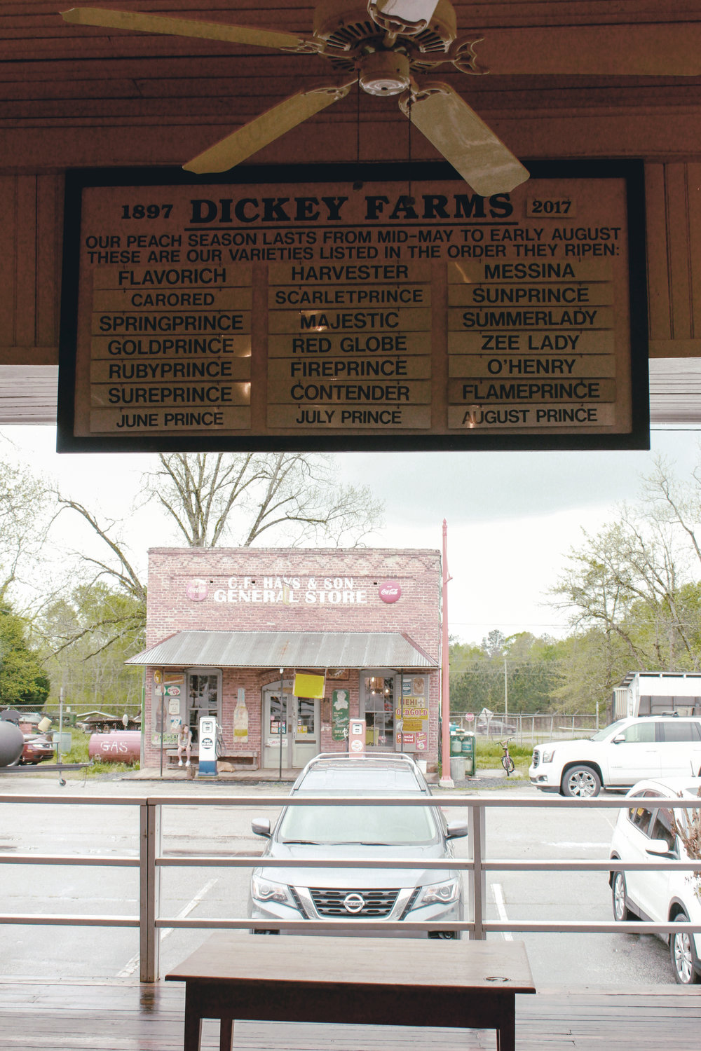 Dickey Farms peach picker / heirloomed travel