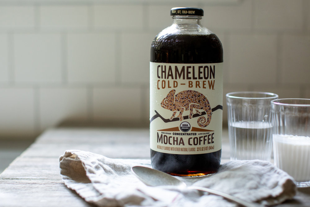 chameleon cold brew mocha coffee / heirloomed recipe