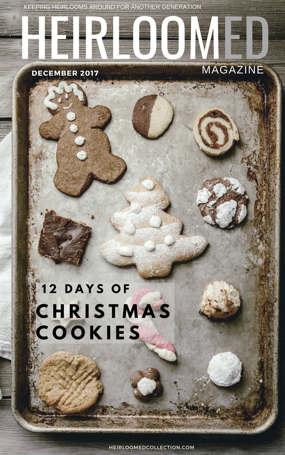 12 days of christmas cookie recipes / free ebook download / heirloomed
