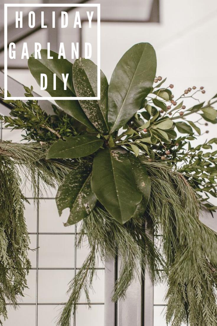 holiday garland diy / heirloomed