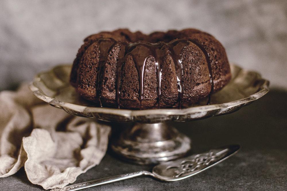 Chocolate Espresso Cake / heirloomed
