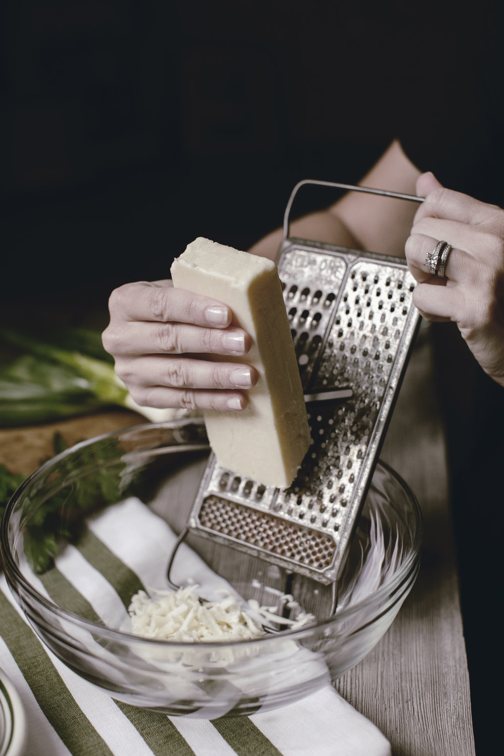 white cheddar with cheese grater