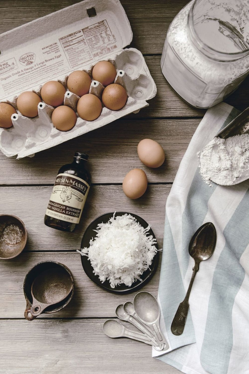 Coconut Cake Ingredients by heirloomed