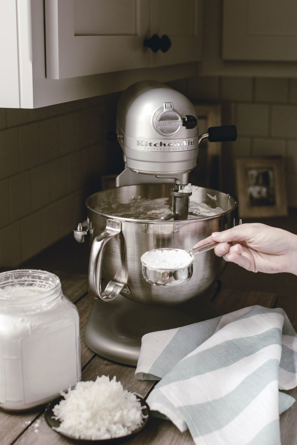 Cake in KitchenAid Mixer