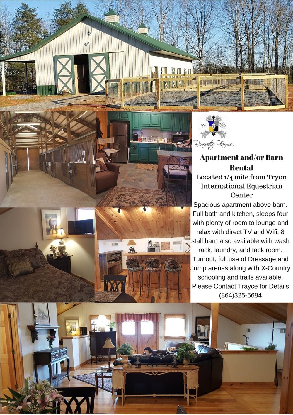 Apartment/Barn Rental — Renovatio Farm | Equestrian | Horse ...
