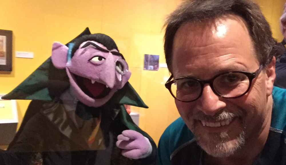 Snapped this at the Jim Henson exhibit at the Seattle MOPOP (formerly the EMP). I loved the Count as a kid!