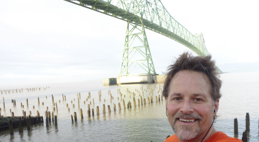 From a couple years ago, a jog that went by the Astoria Oregon bridge.