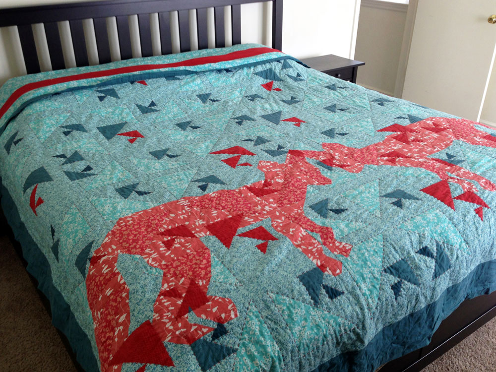 King Fox Quilt by Anna Lisa Brown