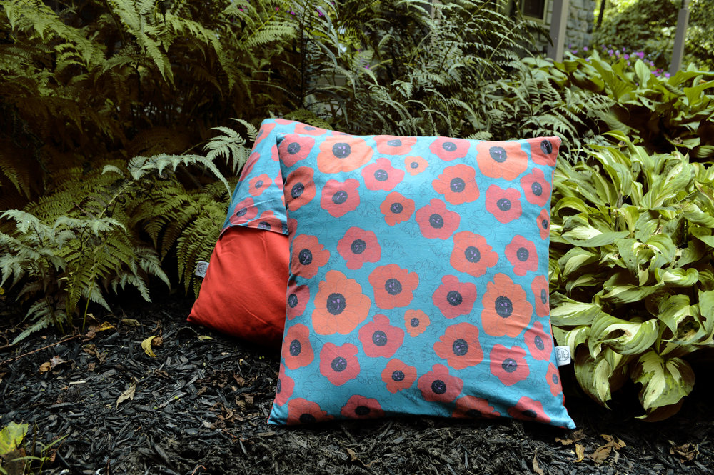 Poppy Spin Pillows