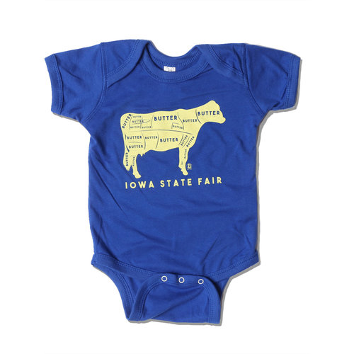 a7b295e5a842 Iowa State Fair Butter Cow Onesie — Bozz Prints