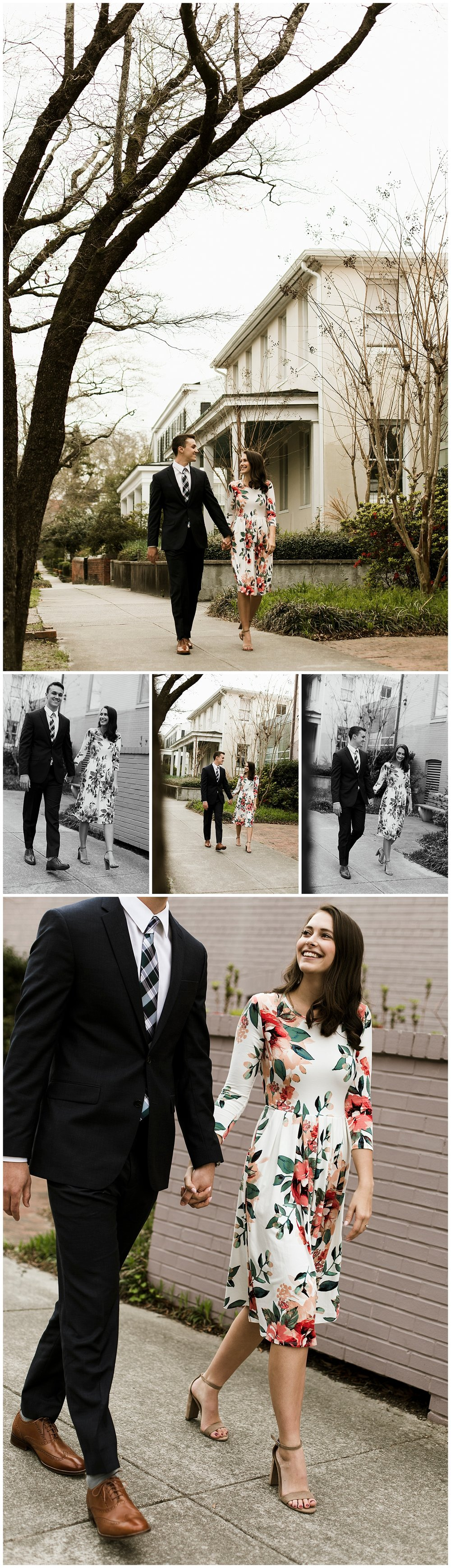 Engagement Session in Downtown Wilmington, North Carolina
