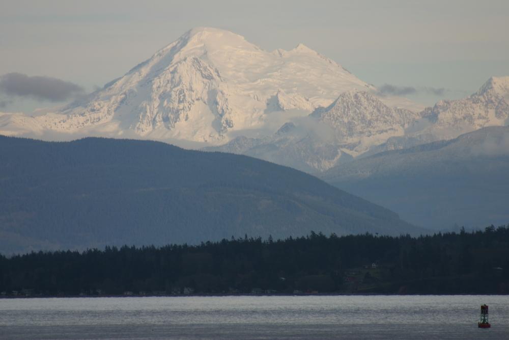 Mt. Baker from San Juan Islands Ferry, Puget Sound