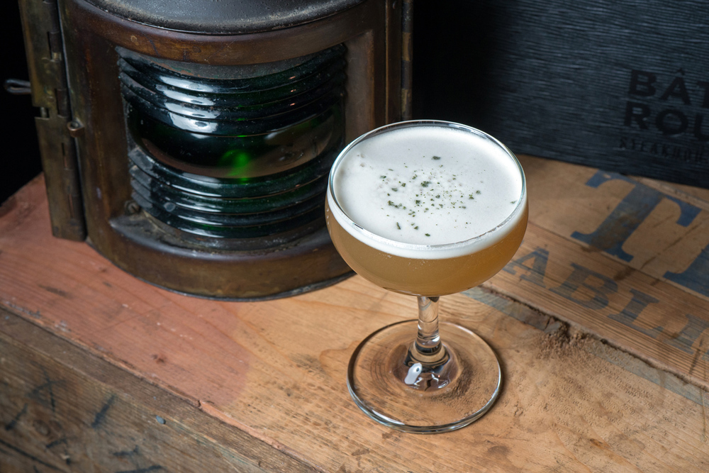 Baton Rouge – Matt Wowchuk Kentucky Caravan: Wild Turkey Bourbon, black peppercorn honey syrup, sage simple syrup, World Tea House Russian Caravan Tea, egg white, lemon juice