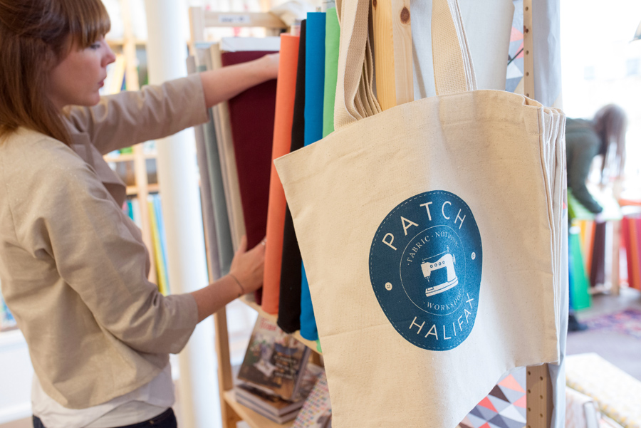 I visited Patch Halifax on Robie Street for the first time. So many beautiful colours and fabrics! Will have to try one of their sewing classes soon.