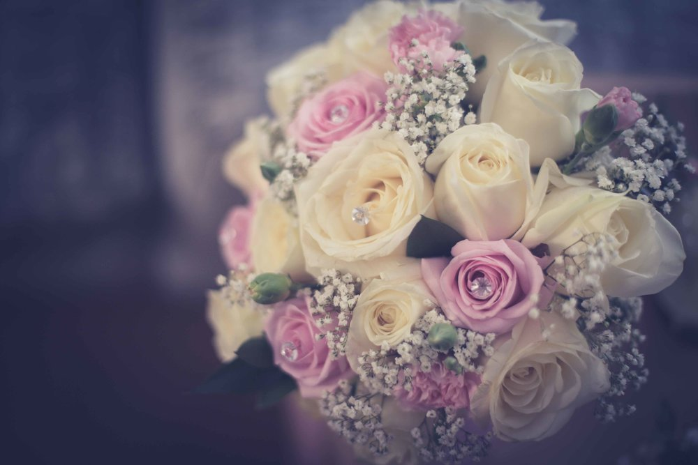 Bridal Flowers pink and cream