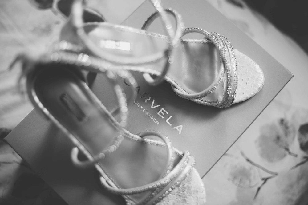Black & White Image Brides shoes