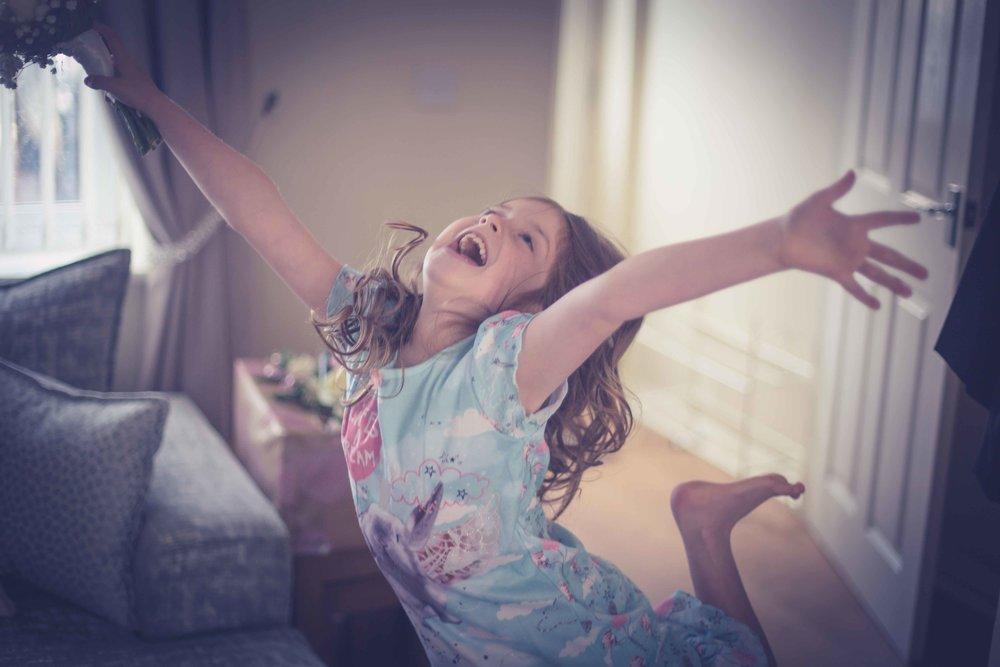 Daughter jumping