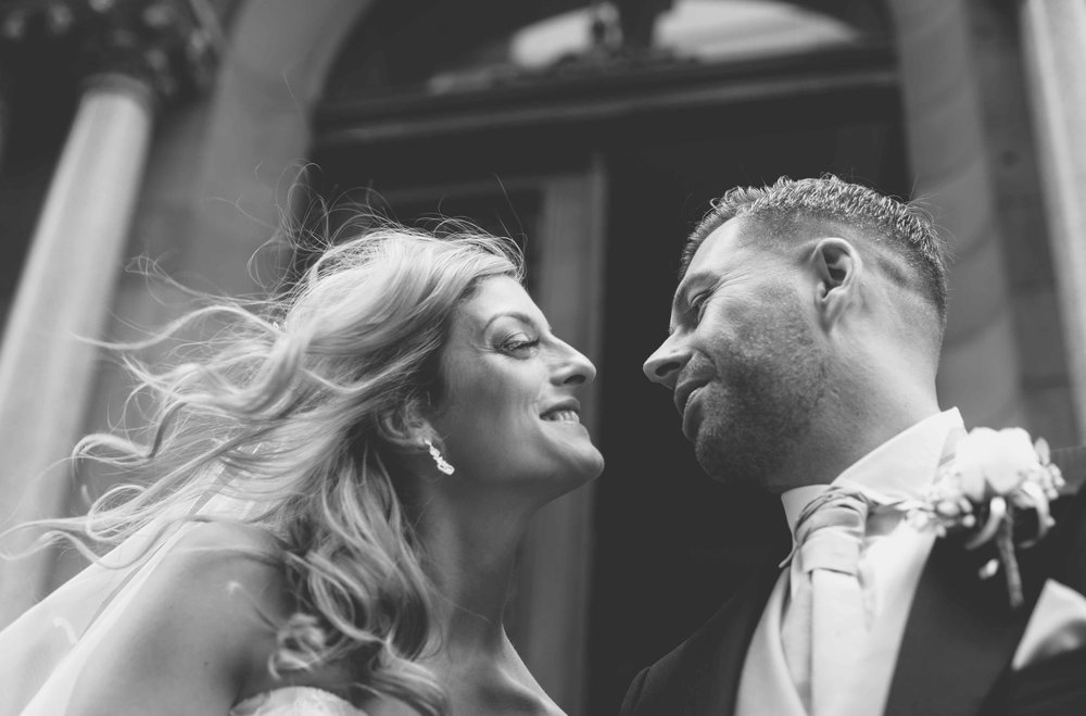 Black and white couple shot