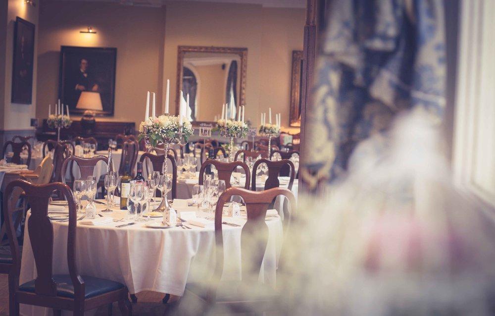 Wedding Breakfast room at the Racquet club Liverpool