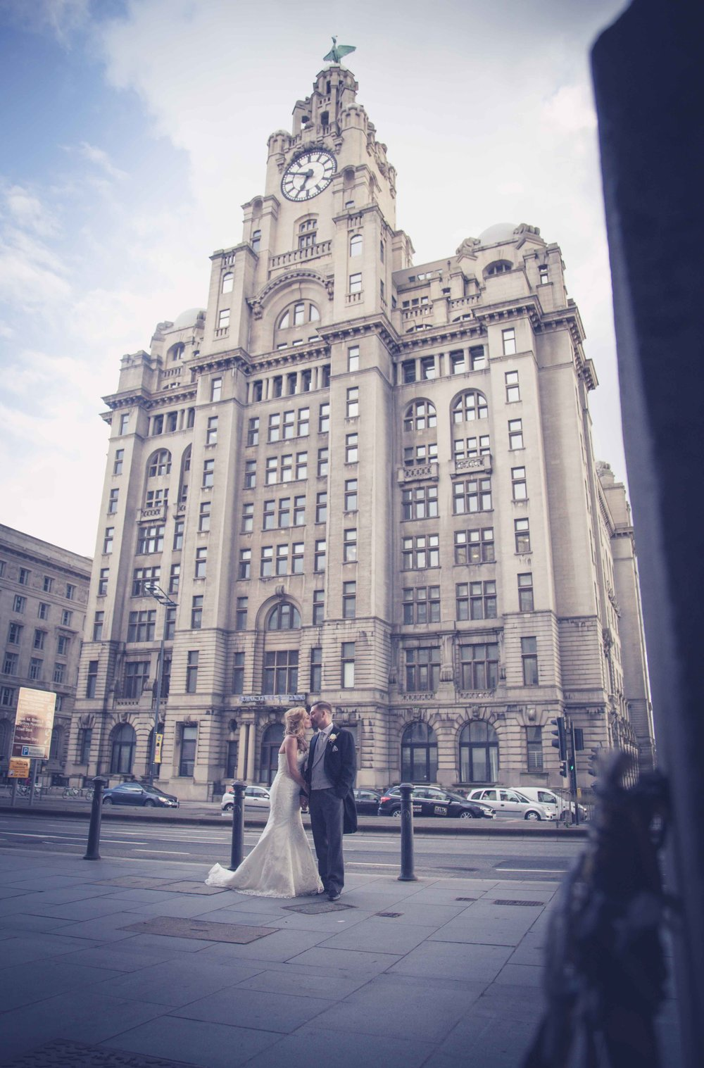 Couple outside the Liver building