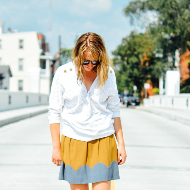 LATE SUMMER FASHION: SKIRT AND SWEATER