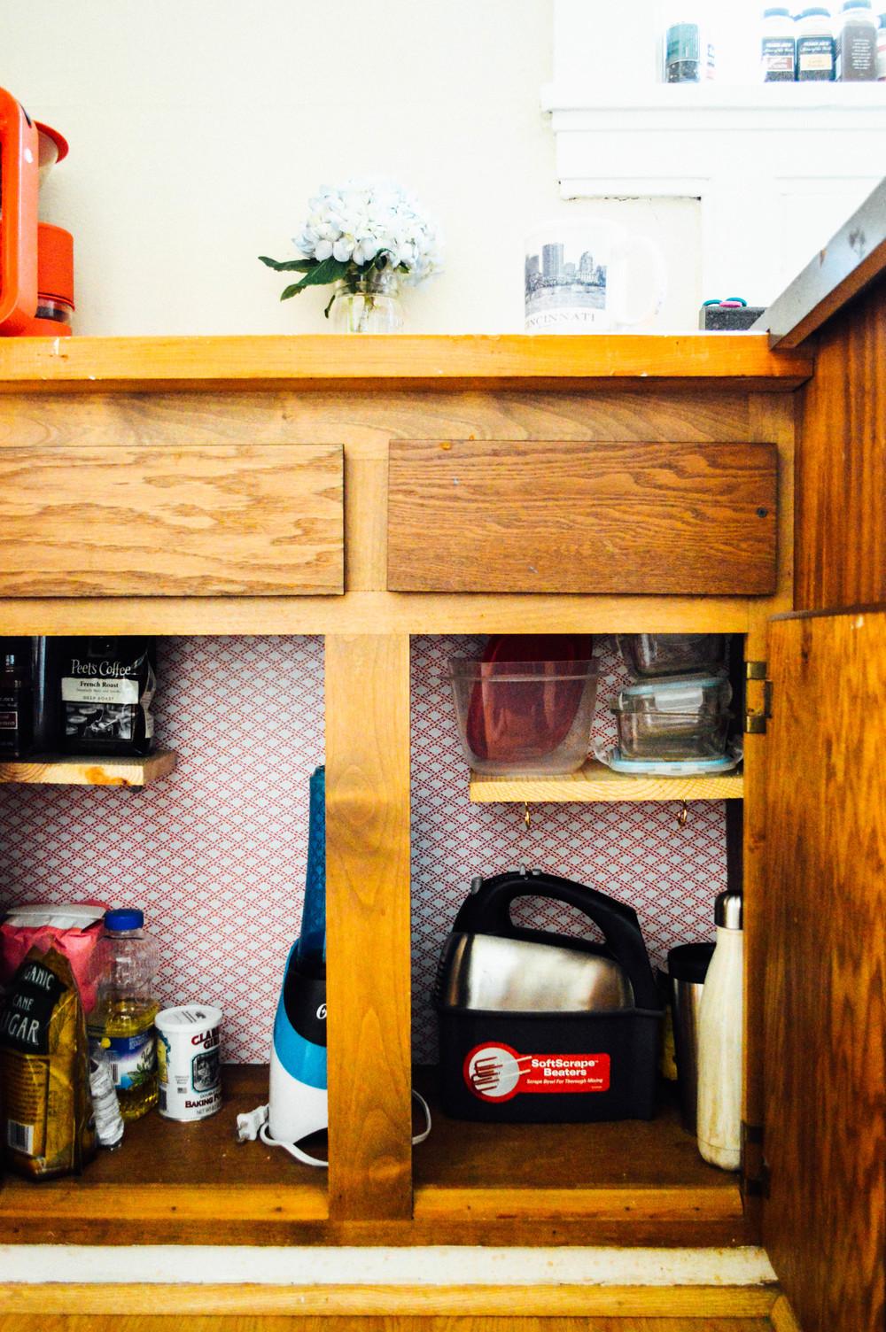 Rental Cupboard Makeover