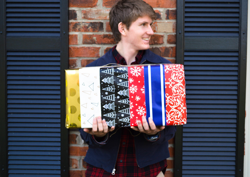 Fun gift wrapping for big families