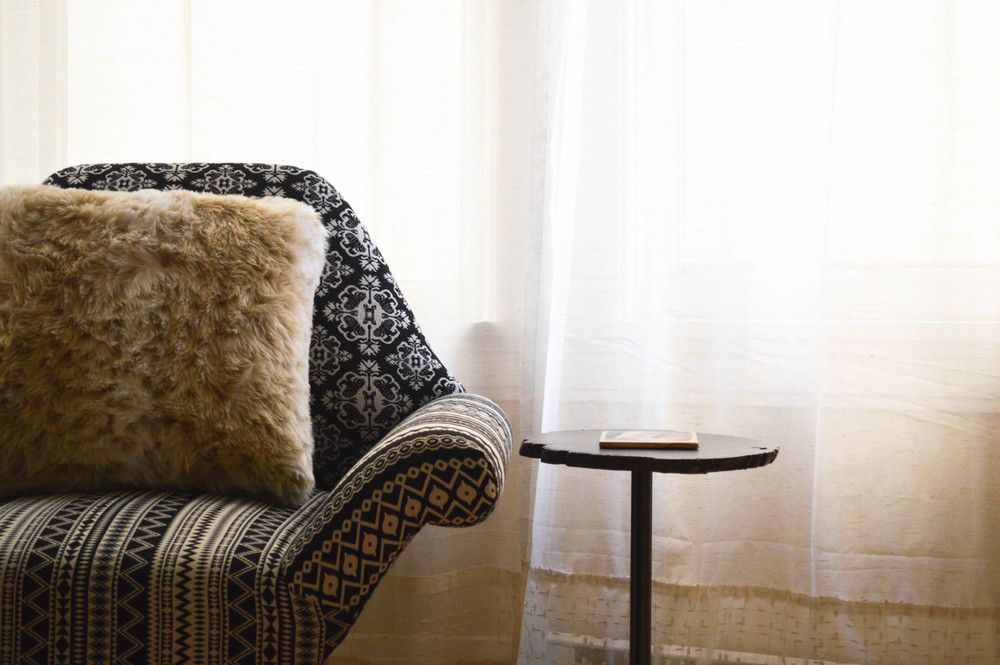 Lengthen your curtains by layering DIY