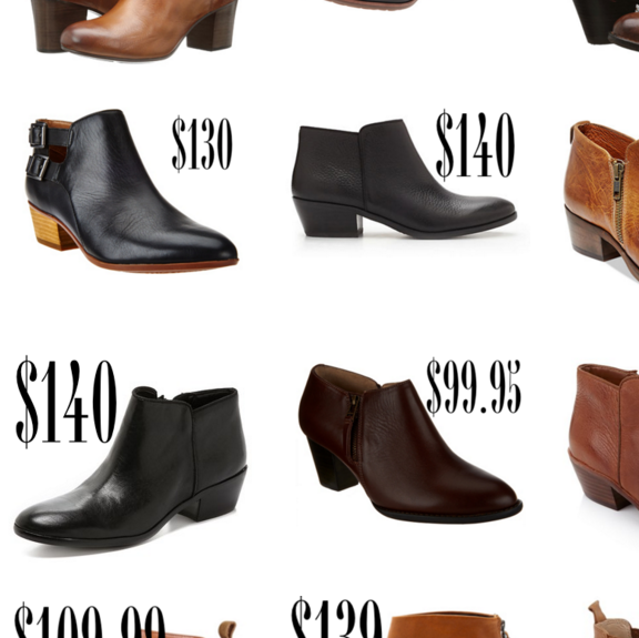 LEATHER BOOTIES ROUND UP ($140 and under)