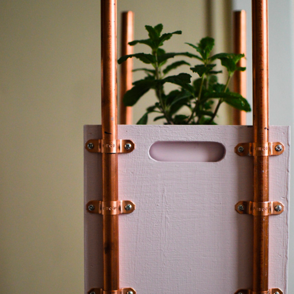 DIY COPPER ACCENT PLANTER
