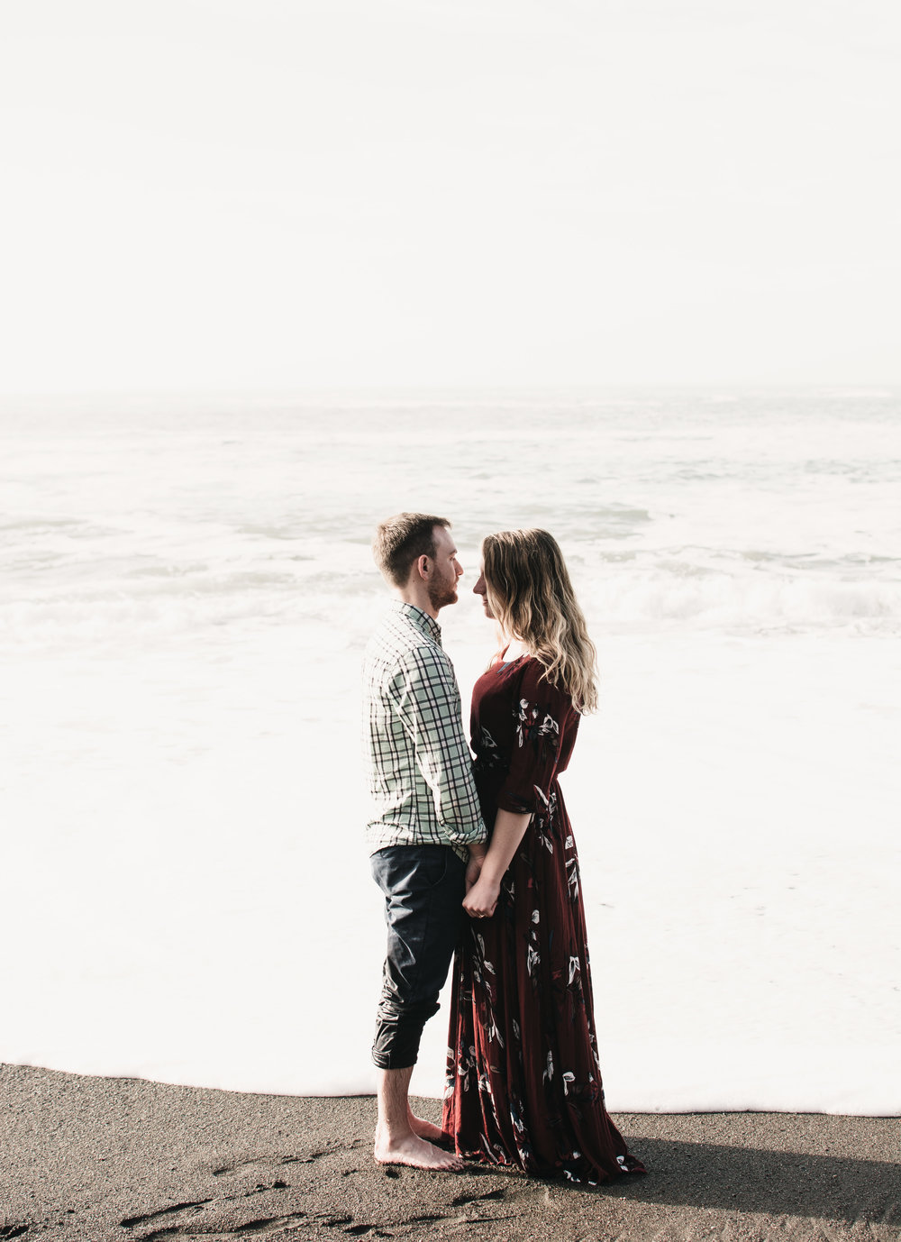 Black sands beach engagement