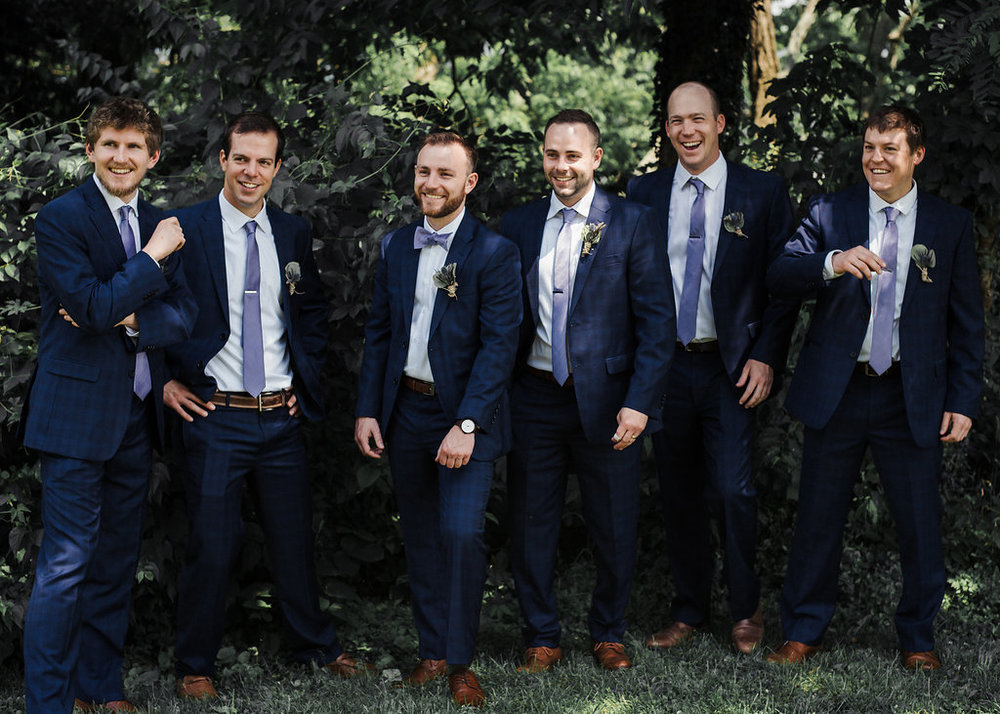 Jake Heath and groomsmen