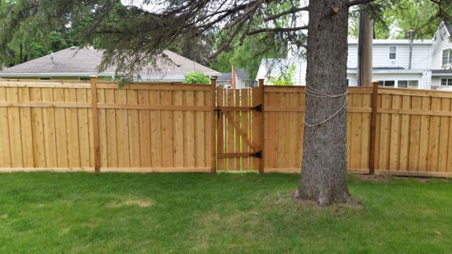 Wood Fence Door Gate 20150619_160219
