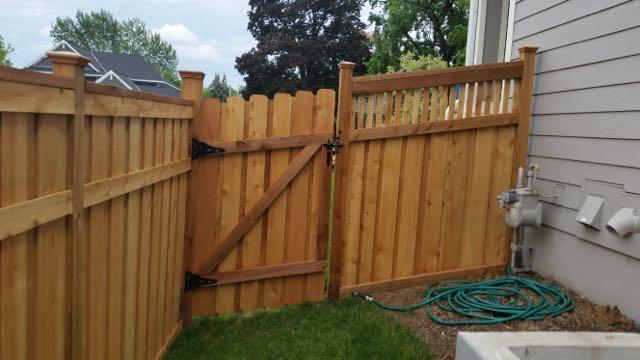 Wood Fence Door Gate 20150619_160238