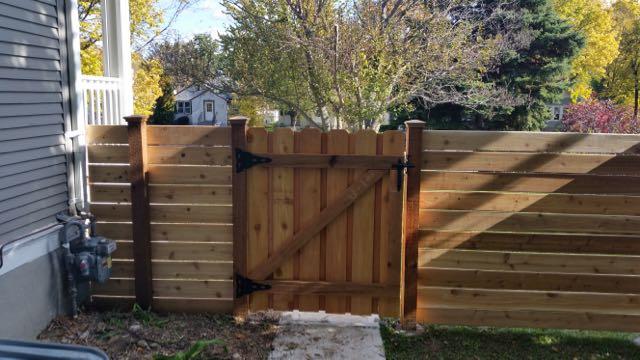 Wood Fence Door Gate 20161020_115337