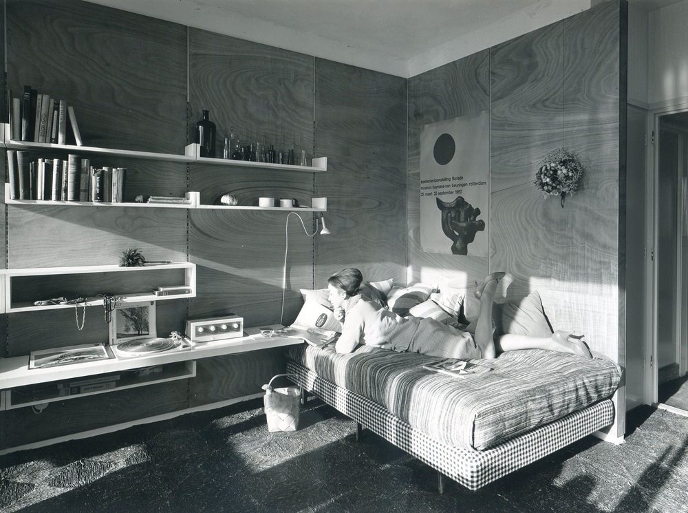 Model home for 'Goed Wonen'. Jan van Galenstraat , Amsterdam 1961. Photo Jan Versnel.