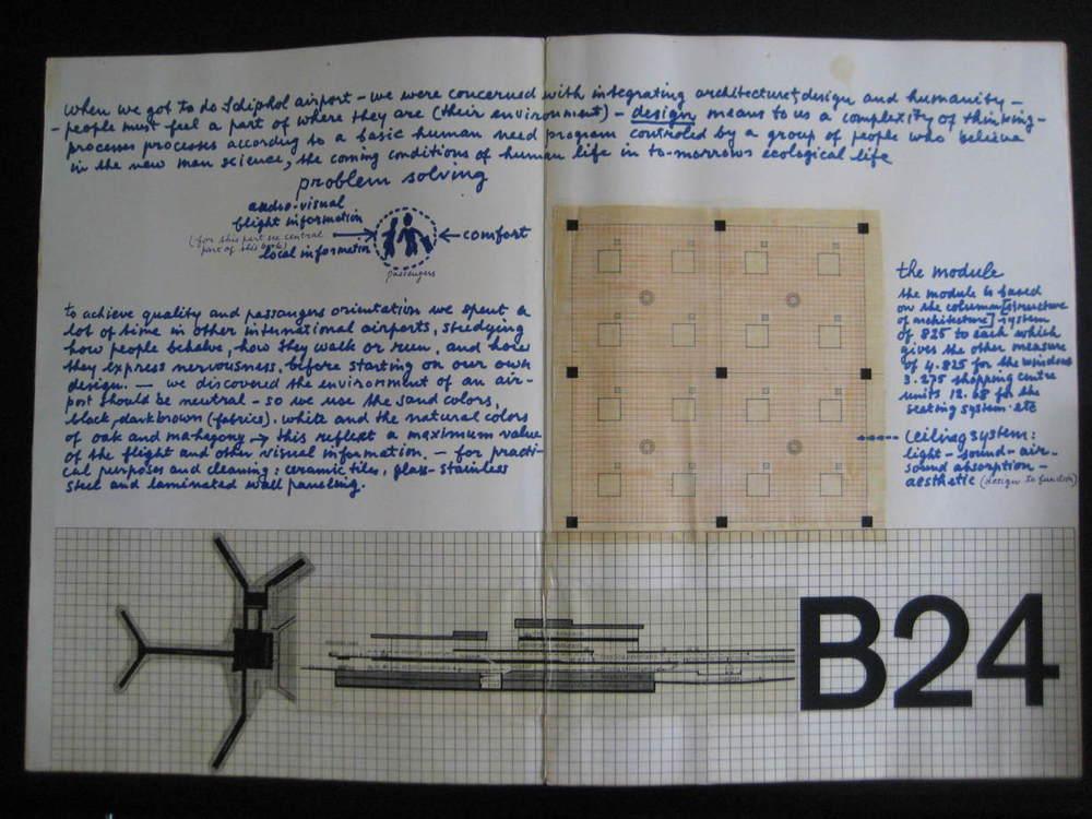 Schiphol presentation book, detail.