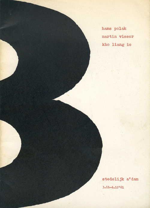 Ontwerpen van Hans Polak, Martin Visser en Kho Liang Ie, Stedelijk museum Amsterdam 1961