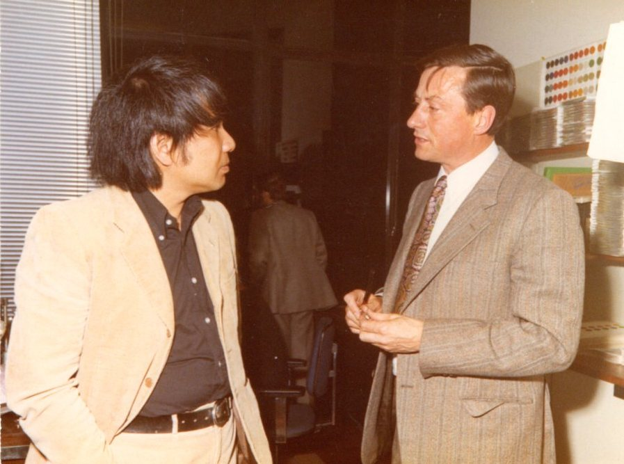 With Harry Wagemans CEO Artifort, Cologne 1971