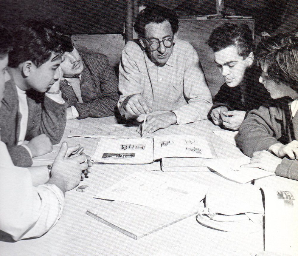 As a student with Johan Niegeman 1951