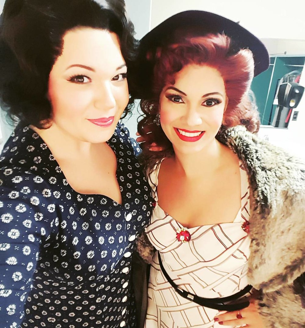 Mimi & Musetta (Zulimar Lopez-Hernandez) getting ready for places!