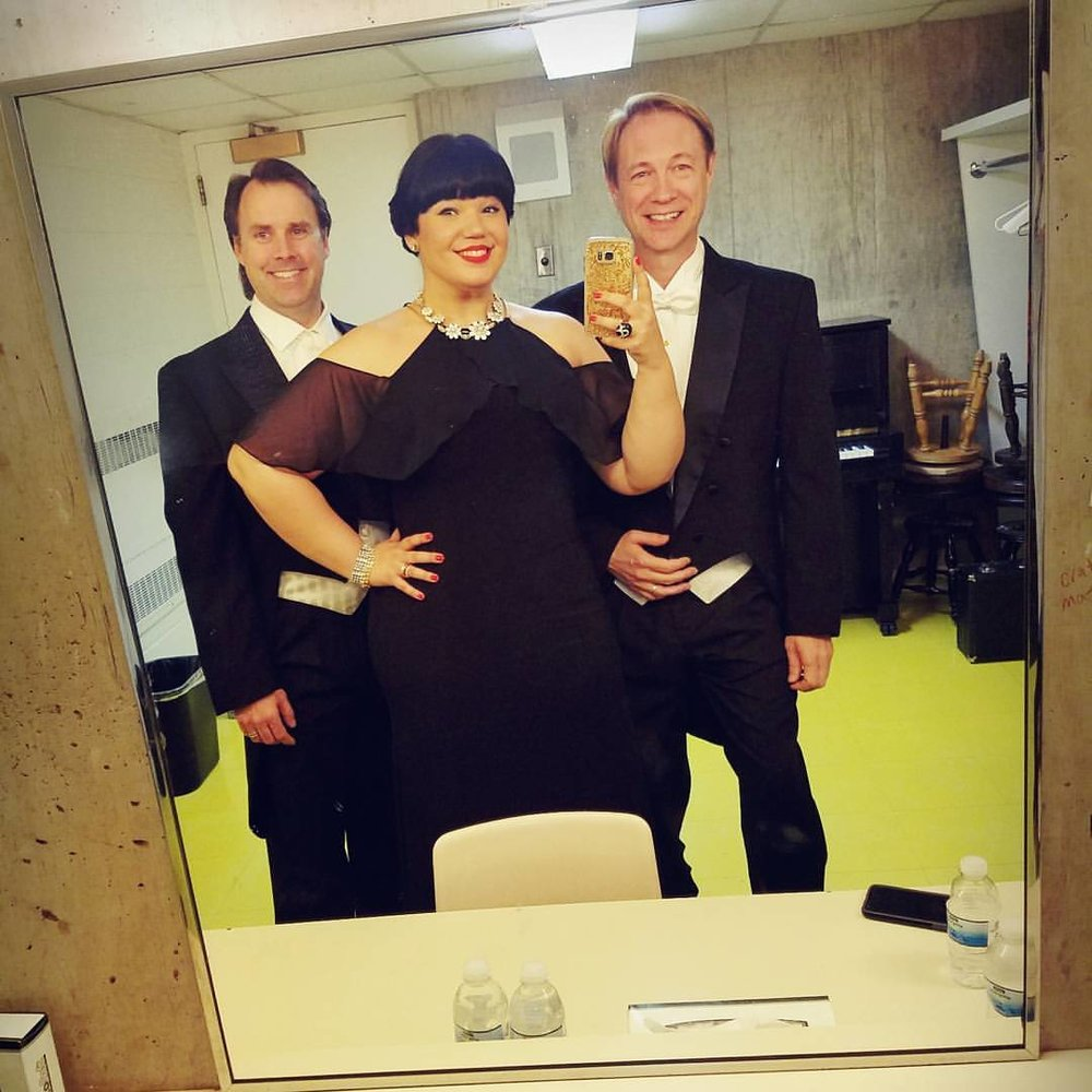 Getting ready to rock my first Beethoven 9 with Jonathan Boyd and Mark Walters!